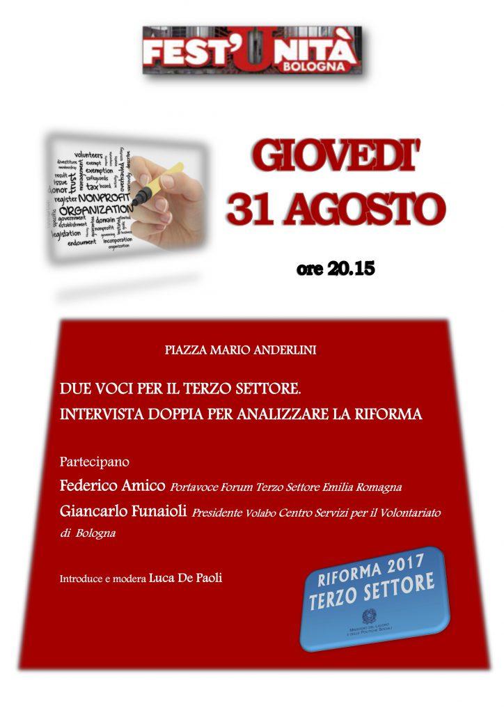 Diritto alla salute e riforma del Terzo settore: altri eventi importanti a Fest'Unità