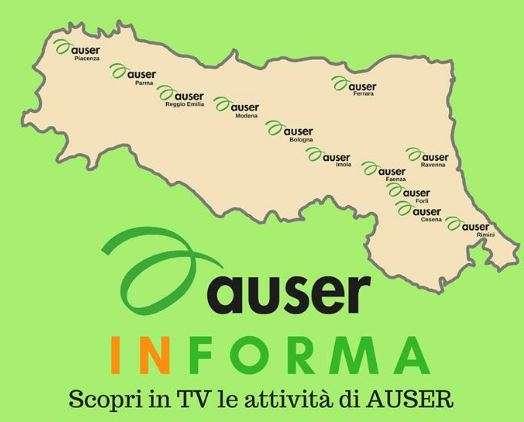 L'Auser va in TV! Da febbraio 14 puntate sulle emittenti regionali per far conoscere le attività delle Auser dell'Emilia Romagna