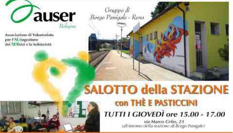 Il programma di maggio e giugno del Salotto della stazione, le conferenze con the e pasticcini di Auser Bologna